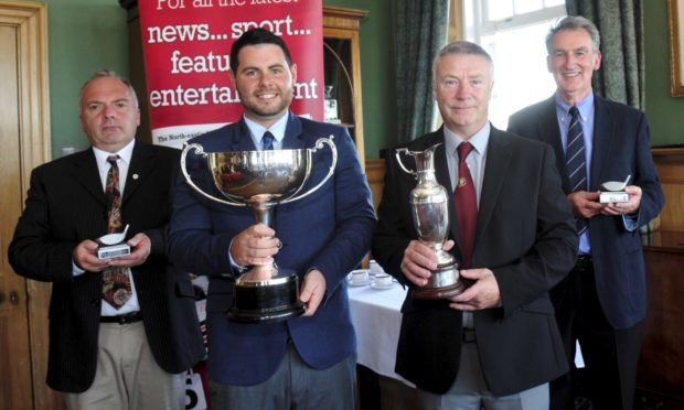 David Morrison, second left, last won the Evening Express Champion of Champions in 2015.