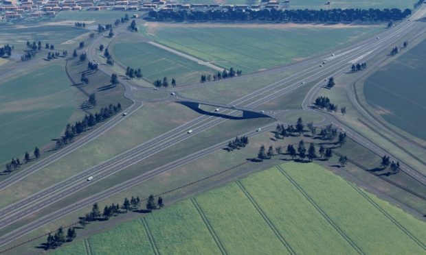 An artist impression of the Laurencekirk junction