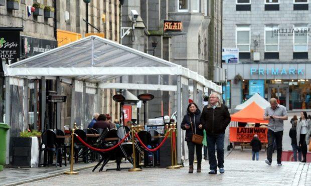 Al fresco dining spots - like these on Belmont Street - can help create a vibrant city centre atmosphere, writes Scott Begbie