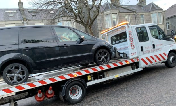 Man caught driving without a license or insurance  Picture: Road Policing Scotland.
