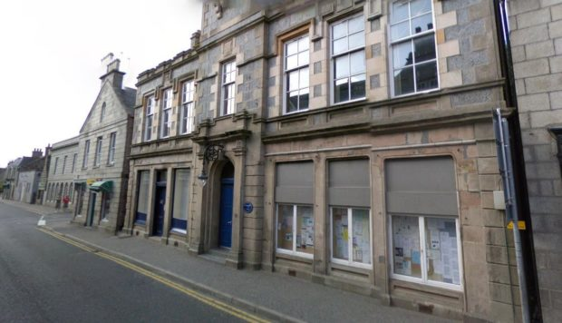 Stewarts Hall in Huntly is being used as a vaccination centre.