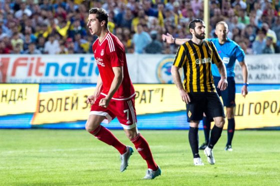 Aberdeen previously played FS Kairat Almaty in the Europa League in 2015.