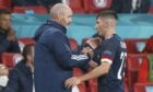 Scotland head coach Steve Clarke (left) with Billy Gilmour during the 0-0 draw with England.