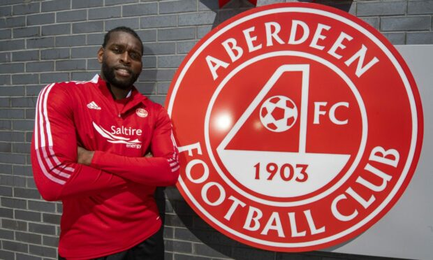 Jay Emmanuel-Thomas is currently Aberdeen's only senior striker