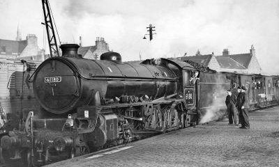 Though the Deeside rail line closed to passenger traffic in February 1966 freight trains continued to run until the end of that year. In this picture, the last Deeside freight train gets up steam to make the final run to Culter on December 30 with 30 rail enthusiasts on board. In its heyday the Deeside line carried 72 trains a day, including the suburban service, and with Balmoral near the Ballater terminus, probably carried more Royal passengers than any other line in Britain.