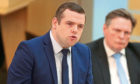 Douglas Ross speaks during First Minister's Questions.