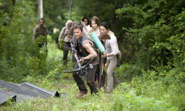Facing zombies - as they do in The Walking Dead - is better than watching the Euros