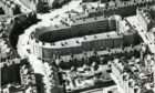 An aerial shot of the city's unique Art Deco Rosemount Square housing block bathed in sunlight in 1966.