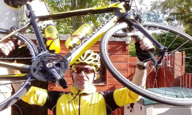 Andy Adam is training hard for Ride the North