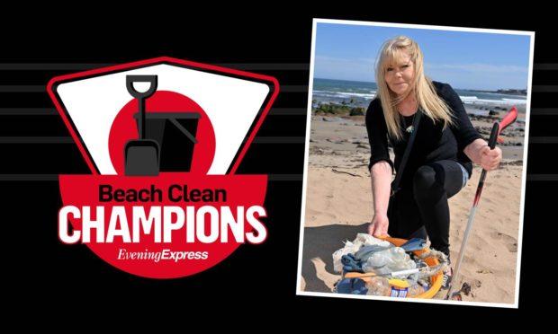Theresa Ritchie at Craigewan Beach in Peterhead.