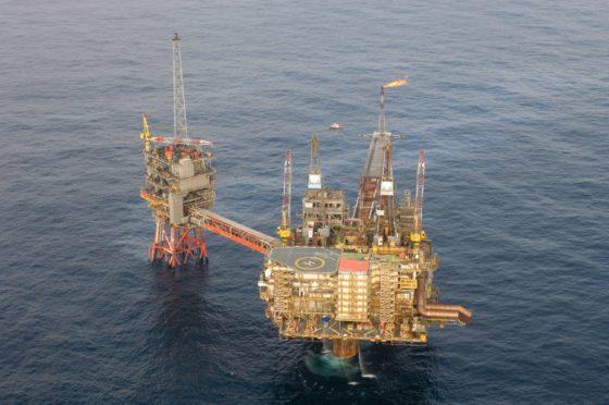 The Beryl Alpha platform in the North Sea.