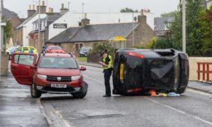 Road crash in Elgin.