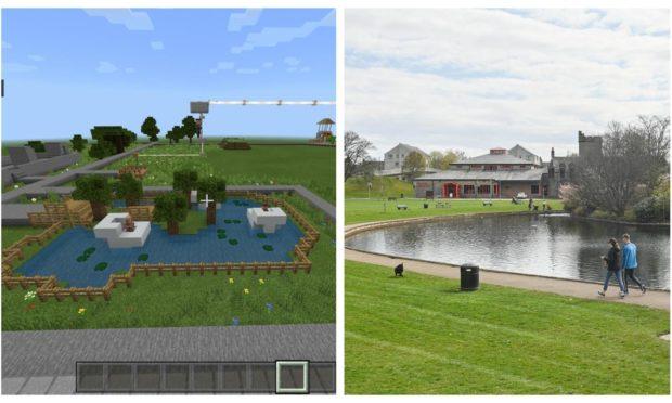 Children have used Minecraft to reimagine the future of Cooper Park.