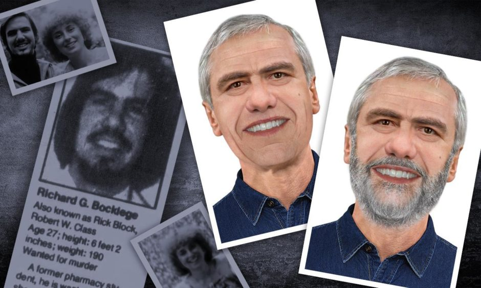 Inverness forensic artist Hew Morrison has created images of 23 year old murderer Richard Bocklage now aged 65