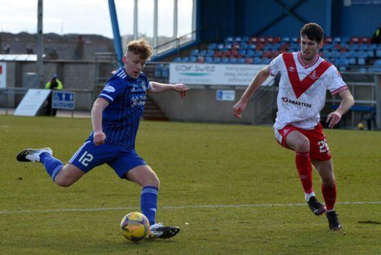 Peterhead midfielder Andrew McCarthy.
