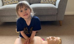 Belhelvie girl Emerie-May Townsley, 4, is one of the UK's youngest first aid instructors.