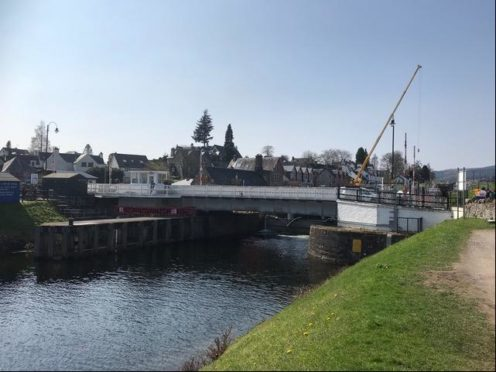 Essential roadworks are being carried out on the swing bridge in Fort Augustus from Monday, June 14