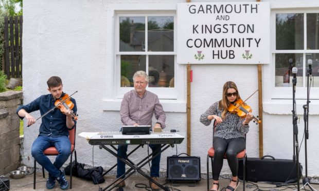 A musical celebration was held during the opening of the Garmouth and Kingston Community Hub.