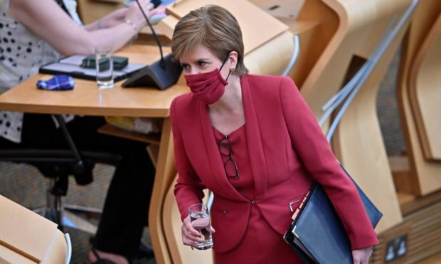 First Minister Nicola Sturgeon will update Parliament on Scotland's roadmap out of lockdown.