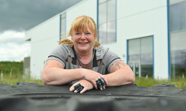 Rachael Routledge will be flipping the 123kg tyre for an hour to set a world record.