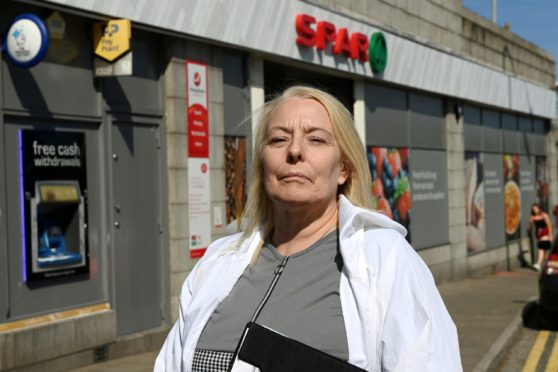 CR0028721 Fiona Campbell has started a petition against the possible closure of Seaton Post Office at Spar, St Machar Drive. She says it will lead to the isolation of elderly and vulnerable residents.   Picture by Kenny Elrick     03/06/2021