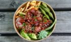 Spicy rice bowls at The Sushi Box are both healthy and tasty.