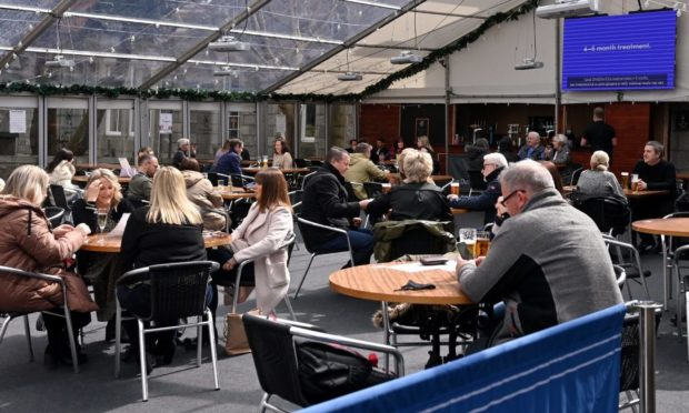 More customers enjoying hospitality again at The Dutch Mill in Aberdeen.