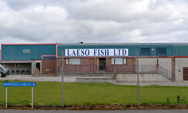 Fire Service at Laeso Fish Ltd, Damhead Circle, Peterhead.