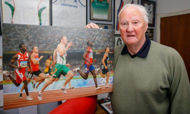 Athletics and football coach Stuart Hogg.