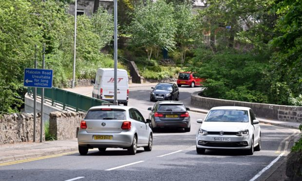 The A93 North Deeside Road at the Rob Roy bridge, Peterculter.     Picture by Kami Thomson / DCT Media.