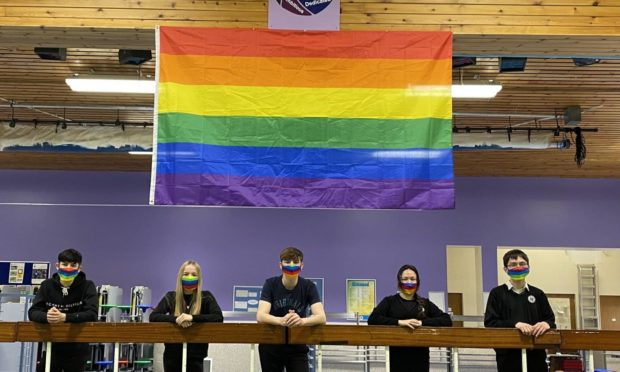 Schools in Moray are flying the flag for equality to celebrate pride month.