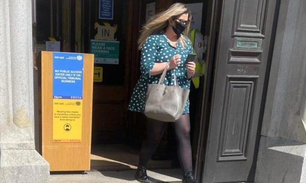 Louise Fraser outside Aberdeen Sheriff Court