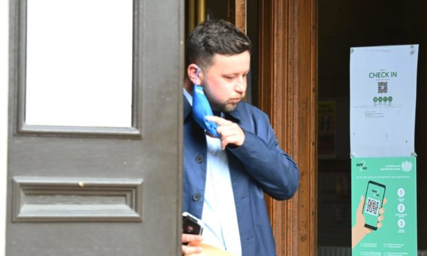 Jamie Cromar leaving court.
