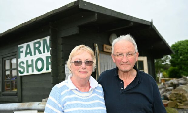 Heather and Charles Black of North Mains Farm Shop.