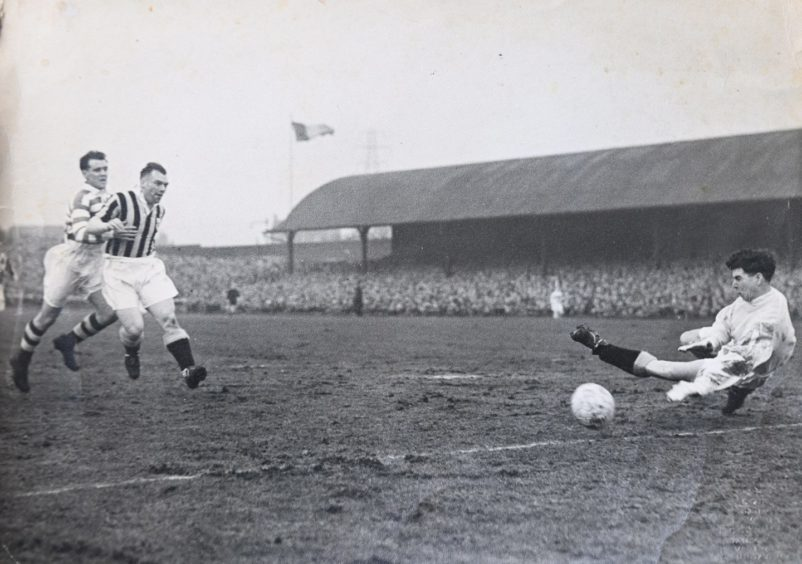 John Curran in action during his goalkeeping days which saw him enjoy cup glory with East Fife.