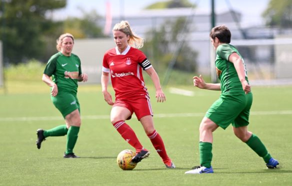 Aberdeen captain Kelly Forrest on the ball. Picture by Darrell Benns  Pictured on 06/06/2021 CR0028688