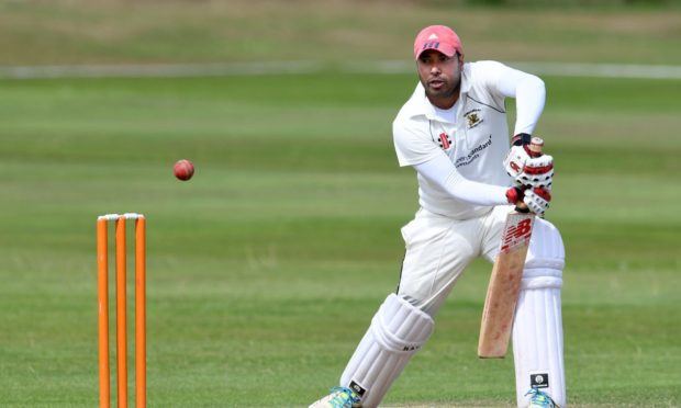 Aman Arora in action for Gordonians, who will face Huntly tomorrow