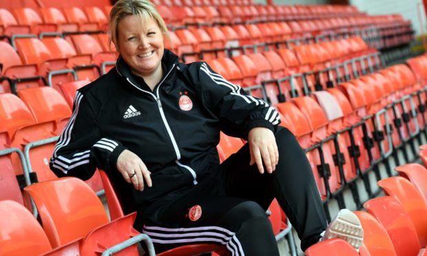 Emma Hunter, manager of Aberdeen FC Women.
