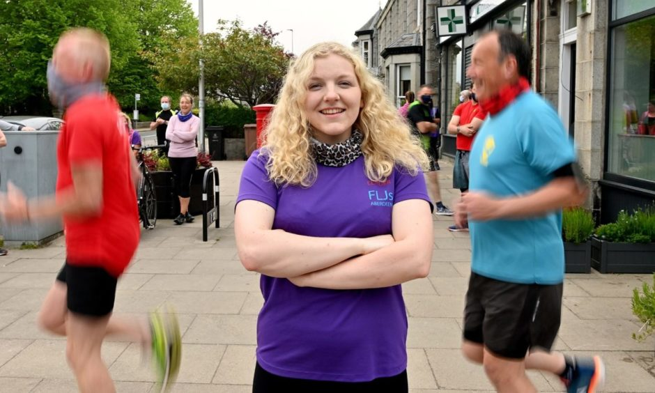 Sophie Cruickshank and the Fit Like Joggers group.