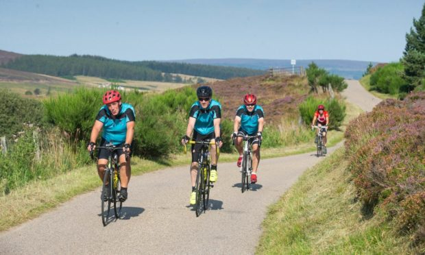 Cyclists participating in Ride the North back in 2019