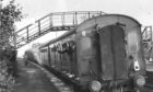 A final wave from the last passenger train to leave Ellon Station in 1965, before the service was removed during cuts.