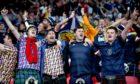 Scotland fans at Wembley.