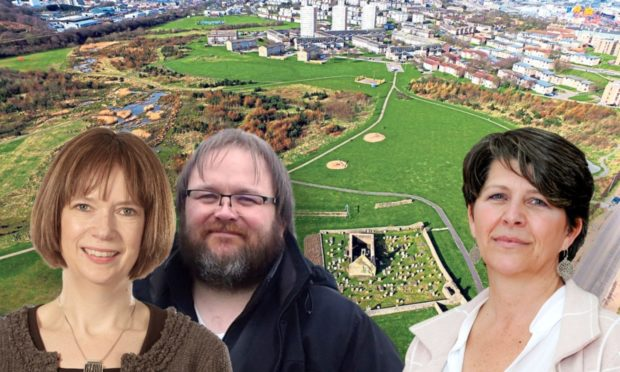 Aberdeen's proposed local development plan for 2022 has been sent to the Scottish Government for input. One of the most contentious issues is the future of Torry's St Fittick's Park - being eyed for a new clean energy business park, the energy transition zone. Pictured left to right: ETZ Ltd chief executive, Maggie McGinlay; Torry campaigner David Knight, and planning convener Marie Boulton.