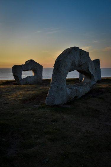 VA May - RediscoverABDN - Josh Barron - Granite Sculpture Sunrise