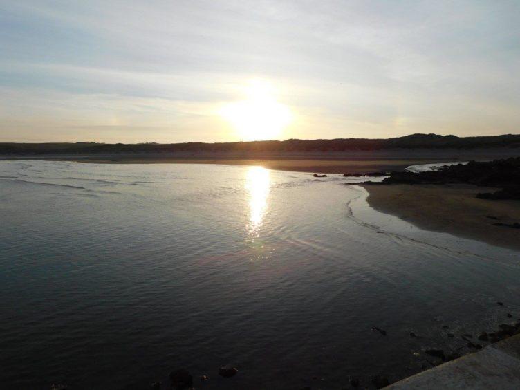 VA May - RediscoverABDN - Susan Clark - Sunset at Cruden Bay beach