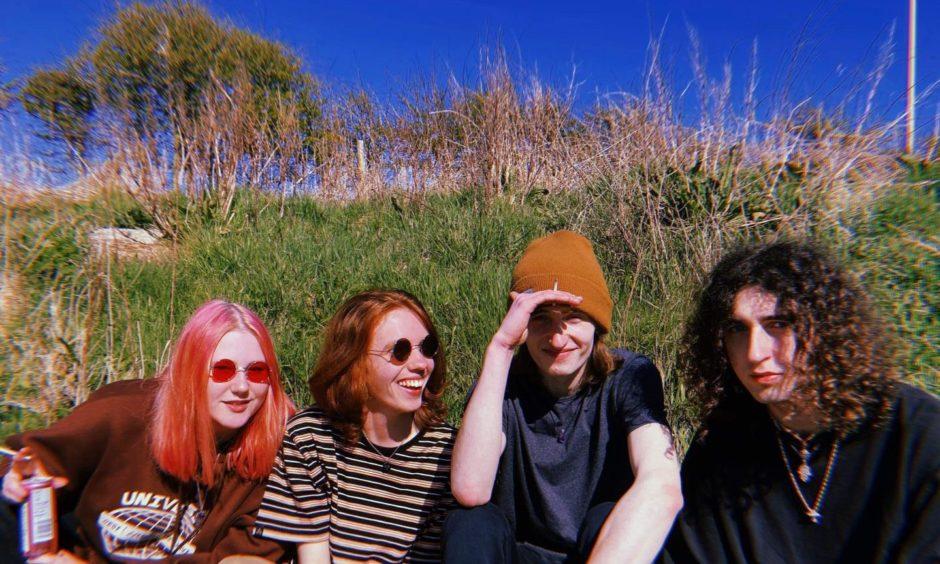 Rising Aberdeen band Cherry Bleach have a huge online following.