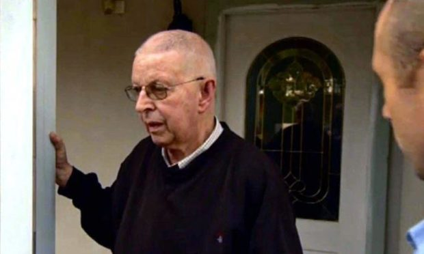 Denis Alexander is confronted in Sydney during the BBC documentary The Sins Of Our Father