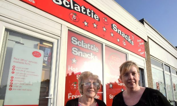 Sclattie Snacks, home to the former Post Office, closed in 2019 after owner Helen Donald retired.