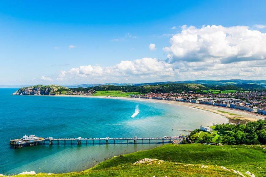 Llandudno Sea Front in North Wales.