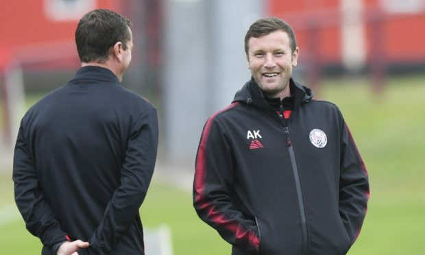 Brechin City manager Andy Kirk, right, is looking to make a positive start in the Highland League